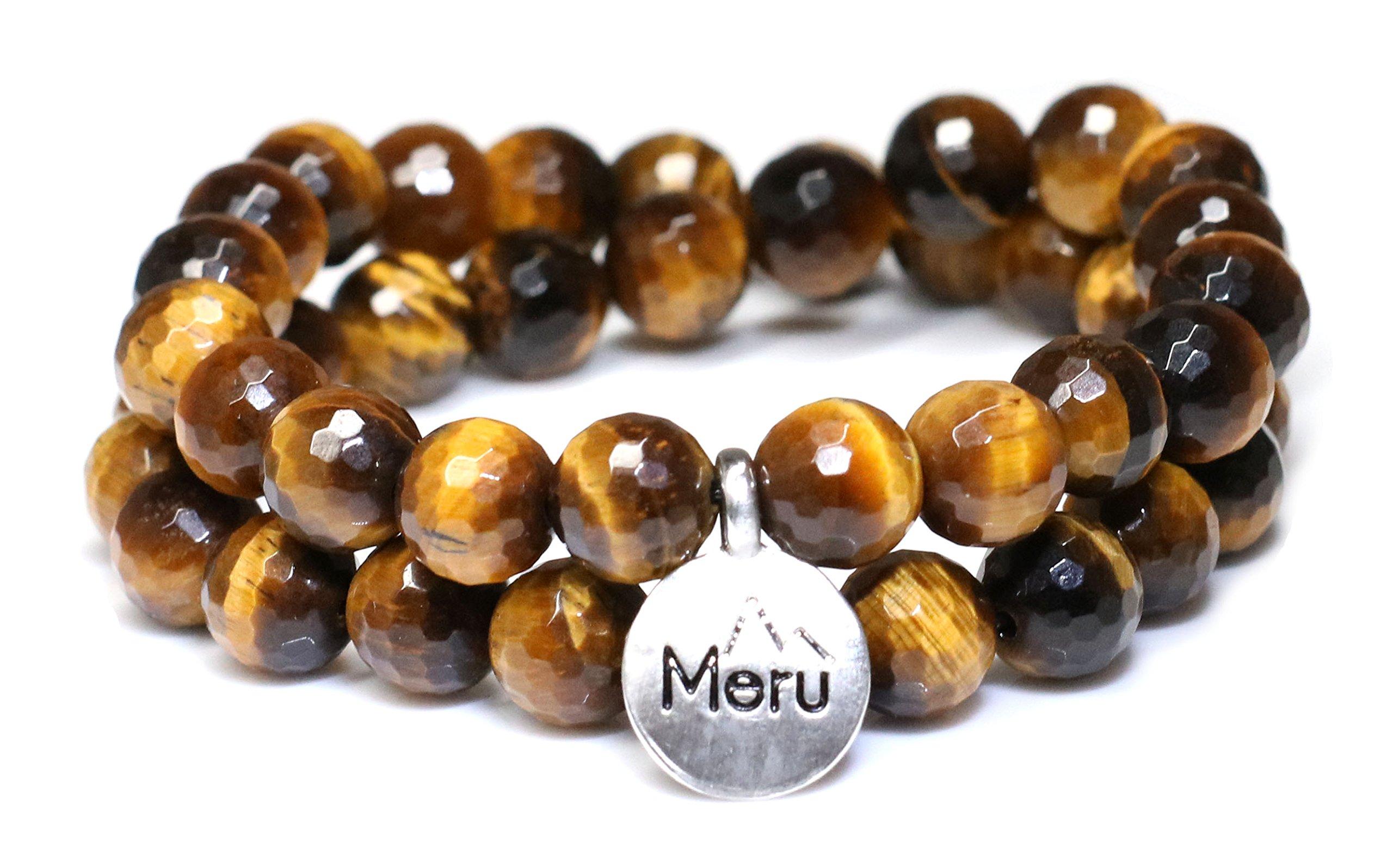 Medium Size - Faceted Tigers Eye Wrap Bracelet for Women - Tigers Eye Bracelet - Tigers Eye Faceted Bracelet for Women