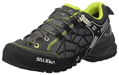 Salewa Unisex-Erwachsene UN Wildfire Pro Trekking-& Wanderhalbschuhe, Schwarz (Carbon/Green 0763), 41 EU