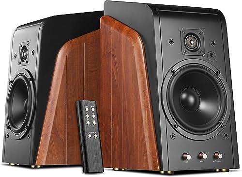 Swan Speakers – M300 – Powered Bookshelf Speakers – Living Room Speakers – 240W RMS – 2 Year Warranty