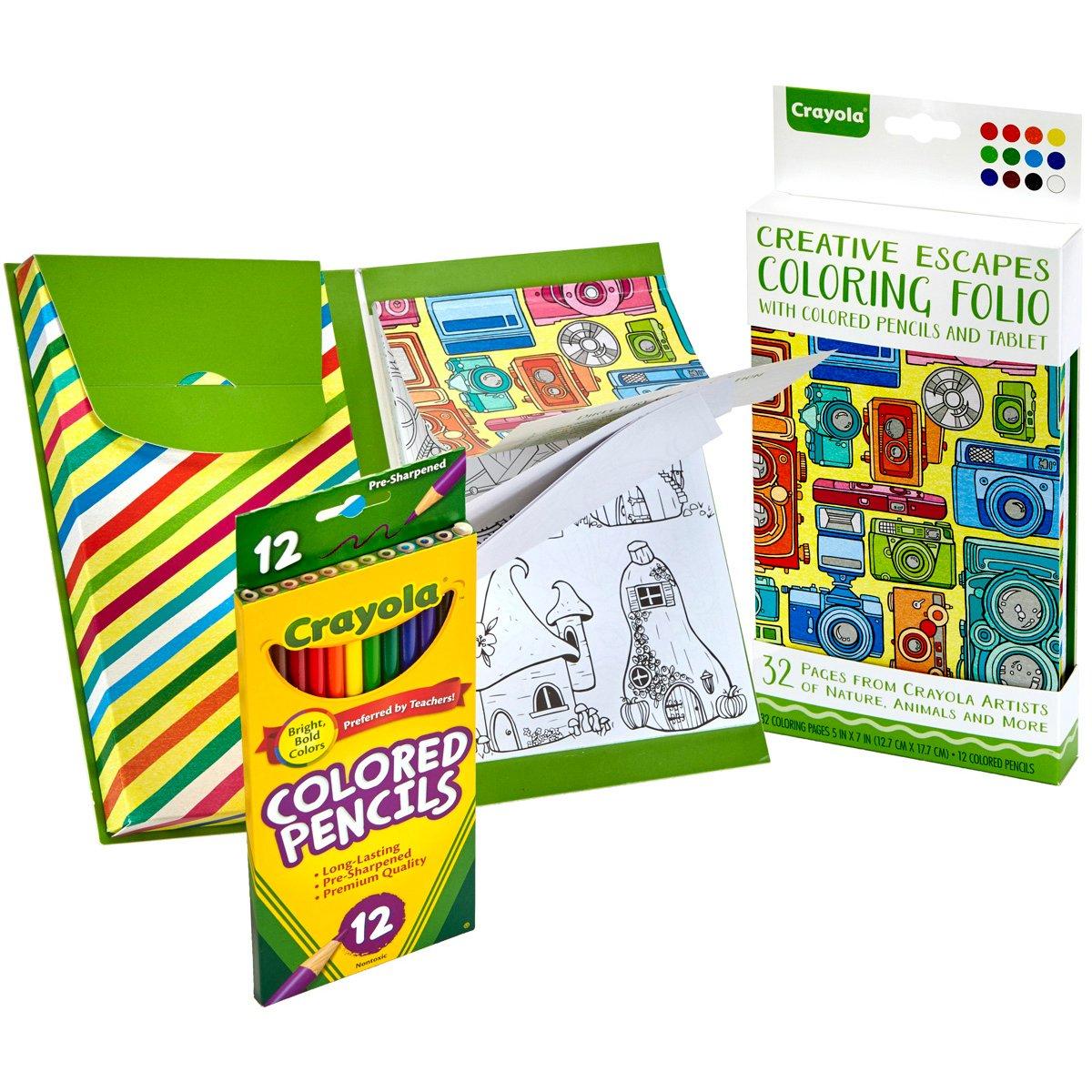 Amazon.com: Crayola Creative Escapes Aged Up Coloring Folio with ...
