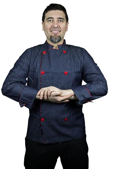 Reloj de la pulsera inteligente de manga larga de cocinero francés chaqueta con los puños y
