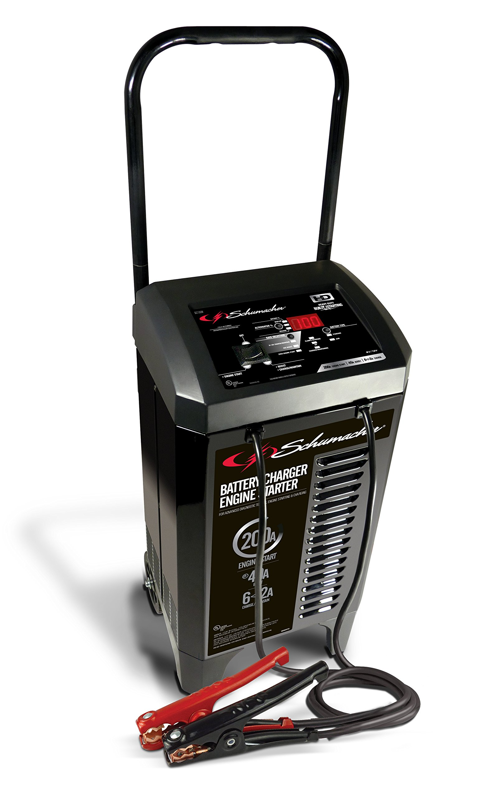Schumacher SC1309 2/6/40/200A 6V/12V Battery Charger and Maintainer