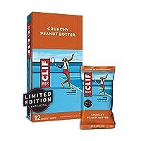 CLIF BAR - Energy Bars - Crunchy Peanut Butter - (2.4 Ounce Protein Bars, 12 Count)