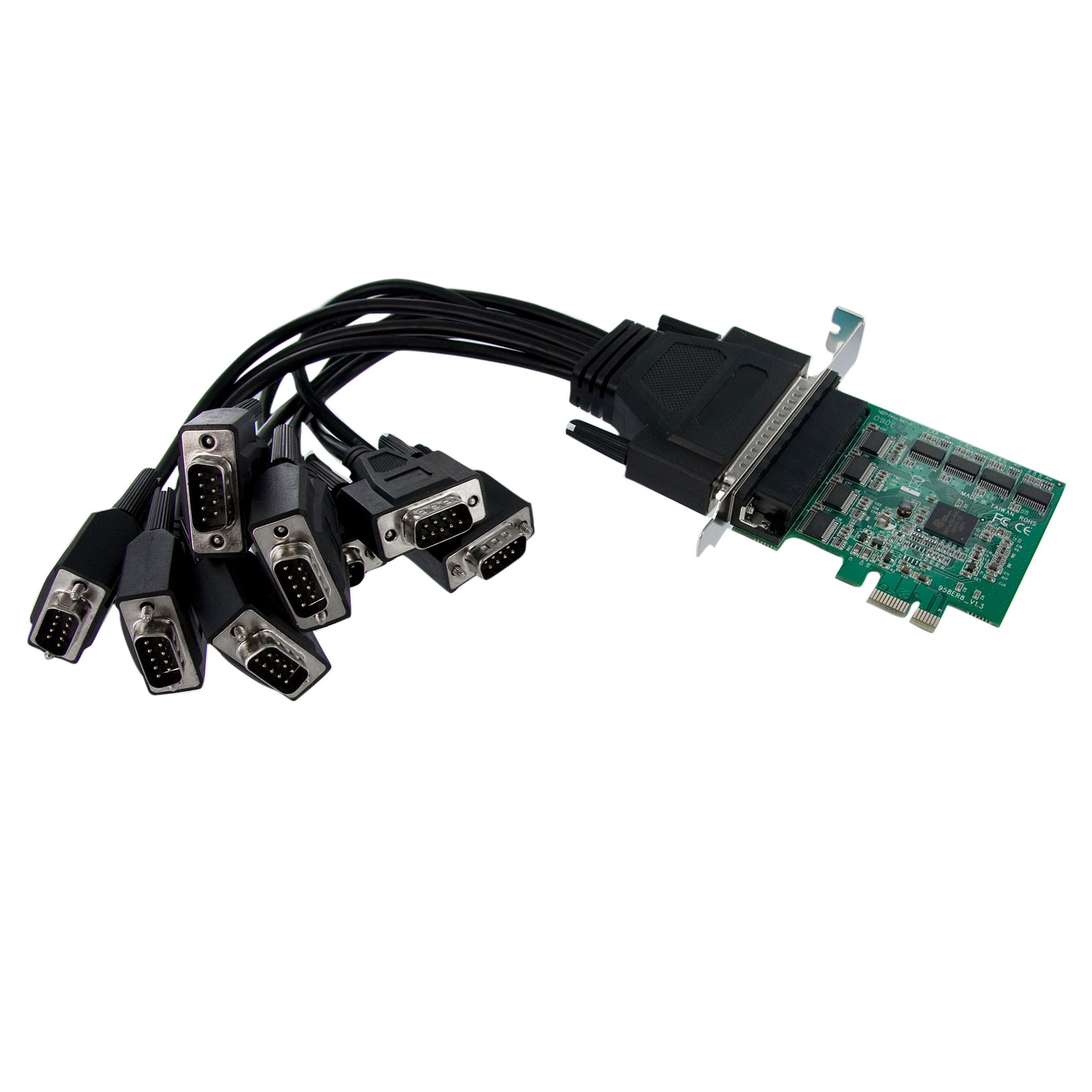 StarTech.com PEX8S952 8 Port Native PCI Express RS232 Serial Adapter Card with 16950 UART