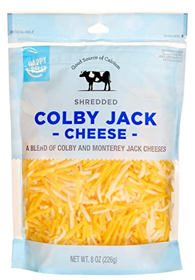 Amazon Brand - Happy Belly Shredded Colby Jack Cheese, 8 Ounce
