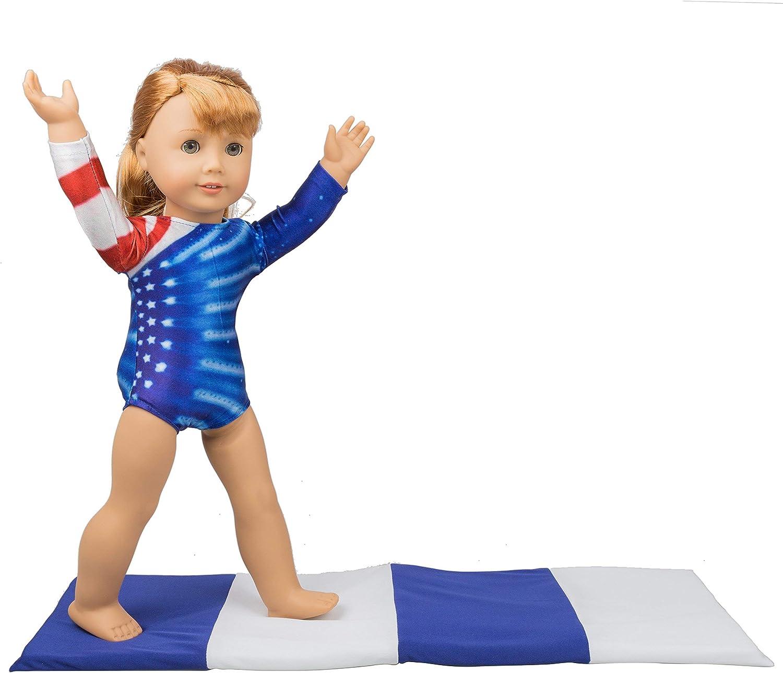 "Metallic Gray Leotard Gymnastics made for 18/"" American Girl Doll Clothes"
