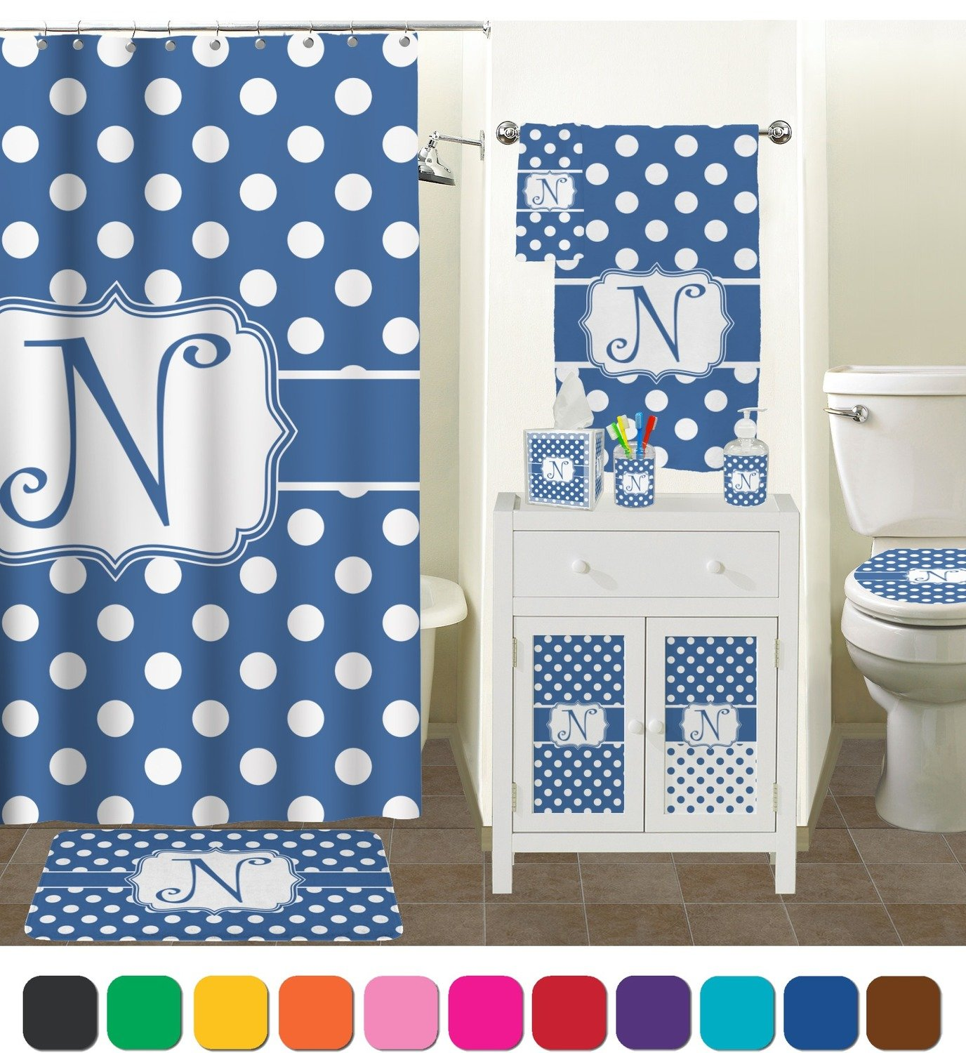 Fine Polka Dot Shower Curtain Component Bathtub Ideas