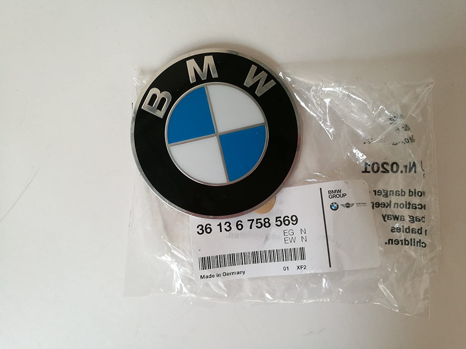 BMW 36-13-6-758-569 Insignia Stamped with Ad