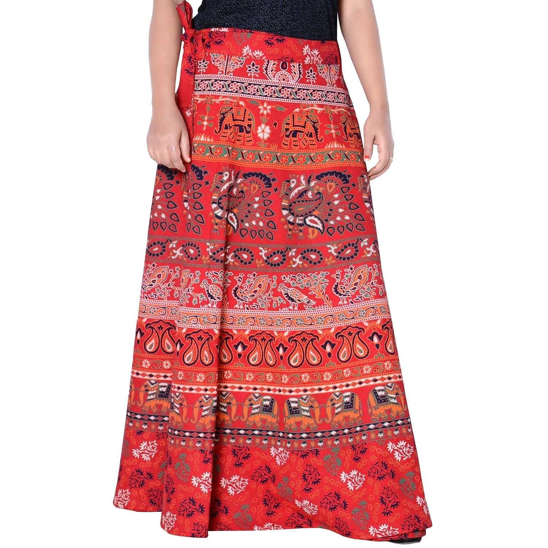 Sttoffa 40 inch Length Wrap Around Rajasthani Skirt D2