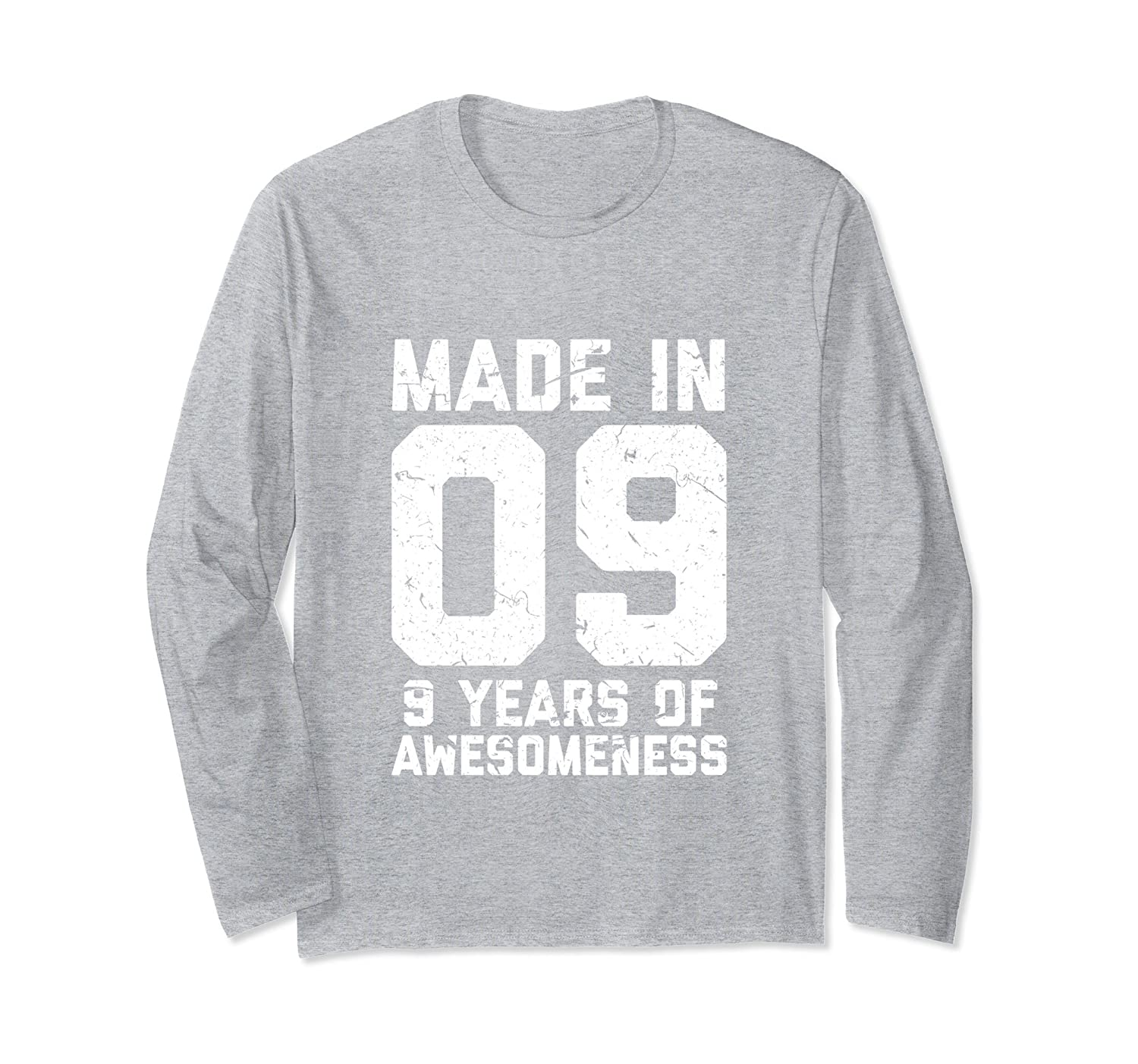 9th Birthday Long Sleeve Shirt Boy Girl Gift Age 9 Year Old Prm
