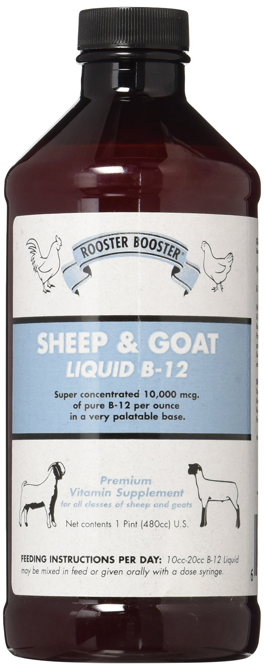 Rooster Booster B-12 Sheep and Goat Liquid, 16-Ounce