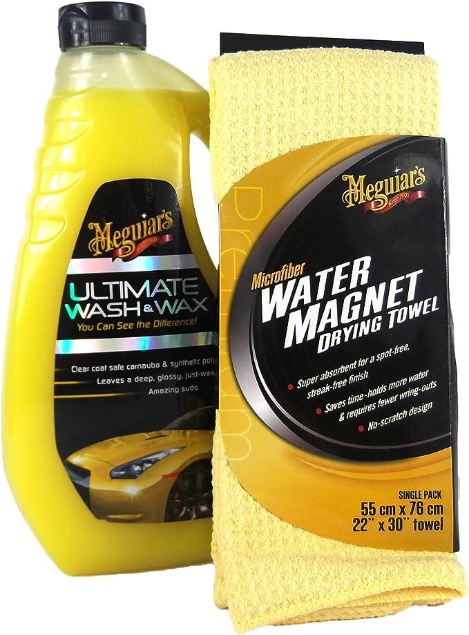 Meguiar S Meguiars Ultimate Wash Wax Autoshampoo Water Magnet Mikrofasertuch Auto
