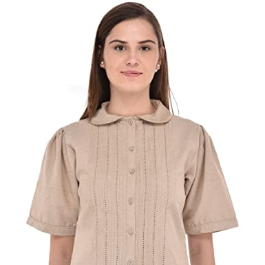 Lane es Y Collo In Lino Camicetta Peter Cotton Amazon Pan Ropa Con BWd1Uxnq