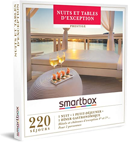 Idée Cadeau 1 An Couple Smartbox   Coffret Cadeau Couple   Nuits et Tables d'exception