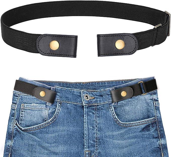 Buckle Free Stretchy Elastic Waist Belt Waistband Adjustable Jeans Individual
