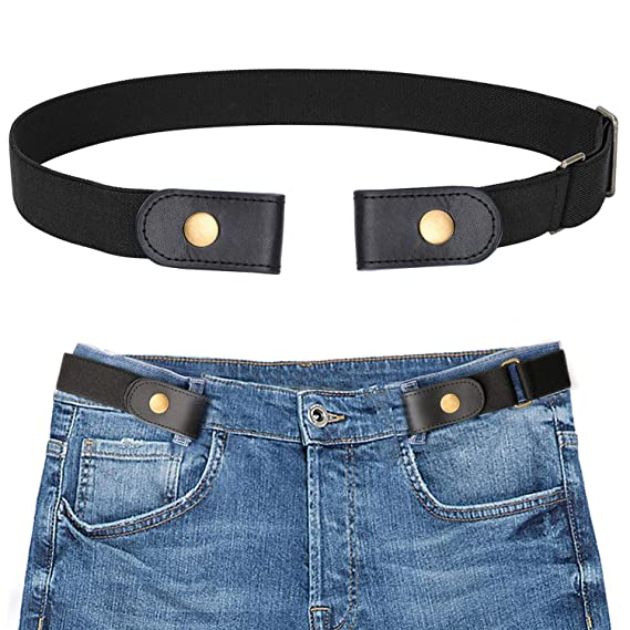 Buckle Free Elastic Women Belt For Jeans Without Buckle Sansths Comfortable Invisible Belt No Bulge No Hassle
