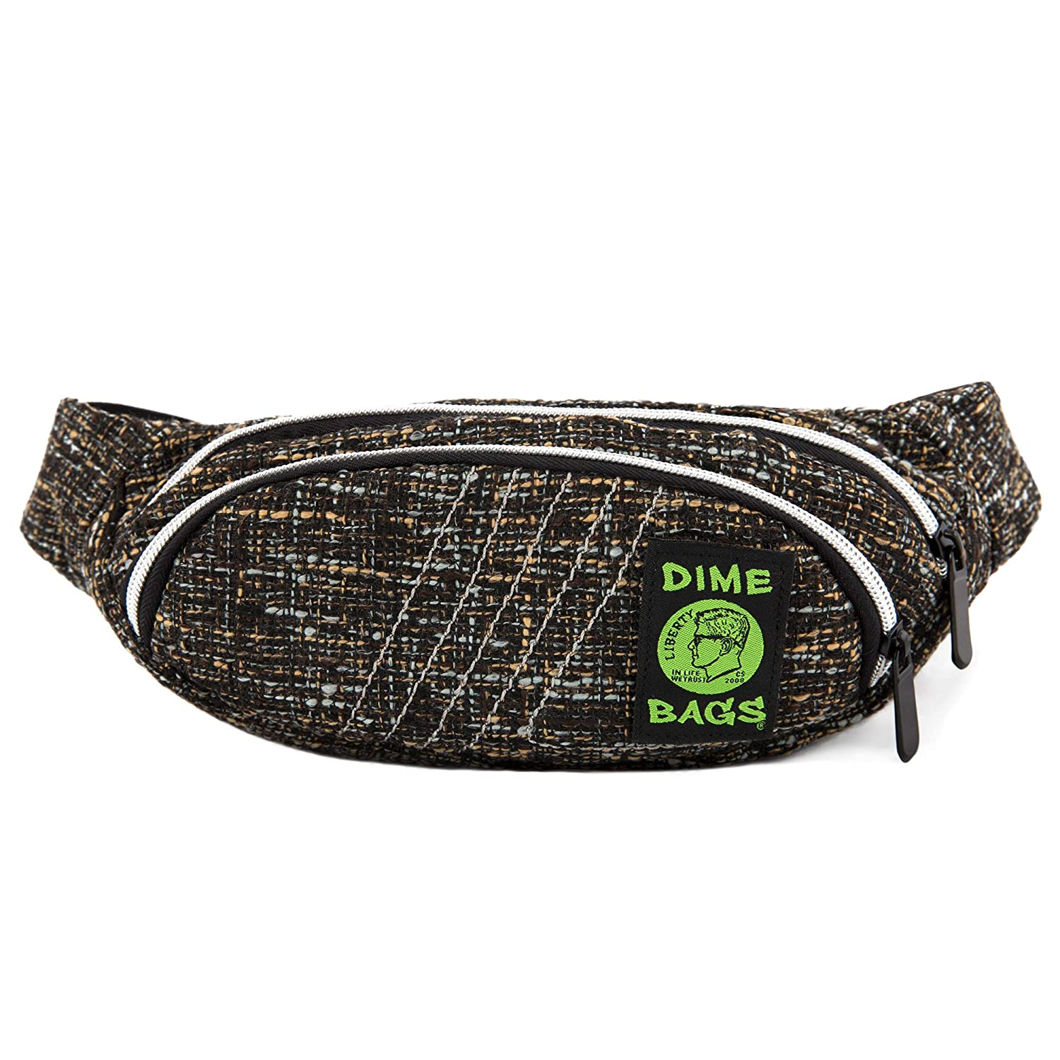 Fanny Pack Grey Hemp Hip Pack w//Spacious Storage and Adjustable Strap