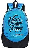 DZert Polyester 30 Ltr Blue School Backpack