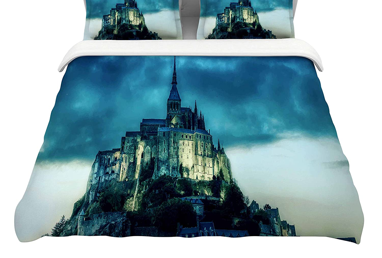 Kess InHouse Vyara Likova Haunted Castle Featherweight Queen Duvet Cover 88 x 88,