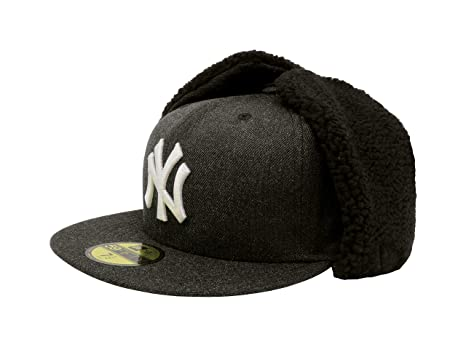 fc6530a0922 New Era 59Fifty Hat New York Yankees Heathered Dogear Black Winter Cap (7 1