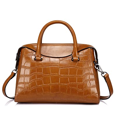f70a7258e7 Handbags for Women Designer Vintage Shoulder Bag Leather Crossbody Bag for Women  Structured Crocodile by Realer  Buy Online at Low Prices in India - Amazon.  ...