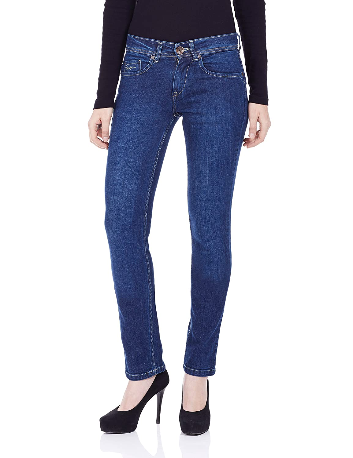9a7c97c6415 Pepe Jeans Women s Slim Jeans  Amazon.in  Clothing   Accessories