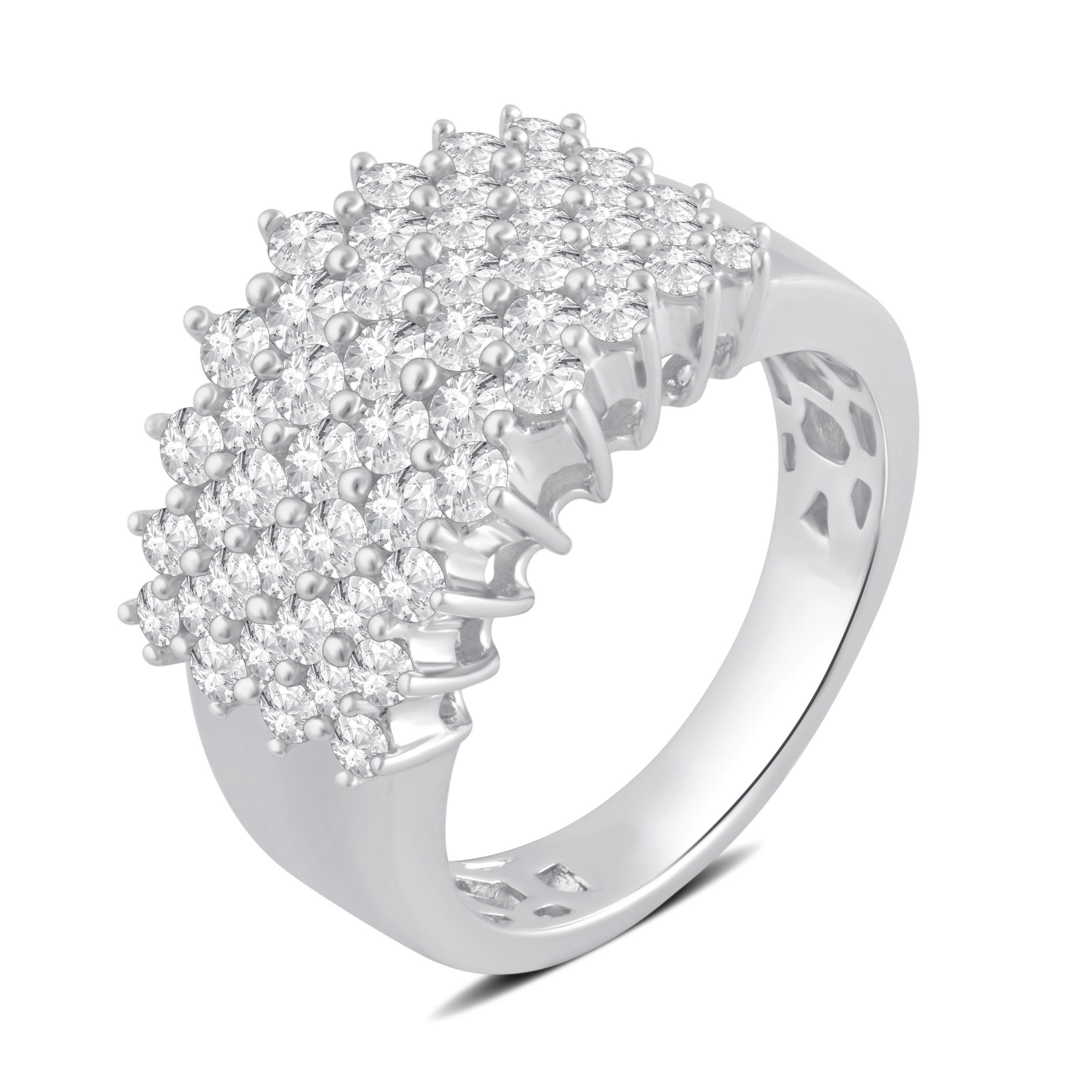 2.00 Cttw Diamond Anniversary Ring in Sterling Silver