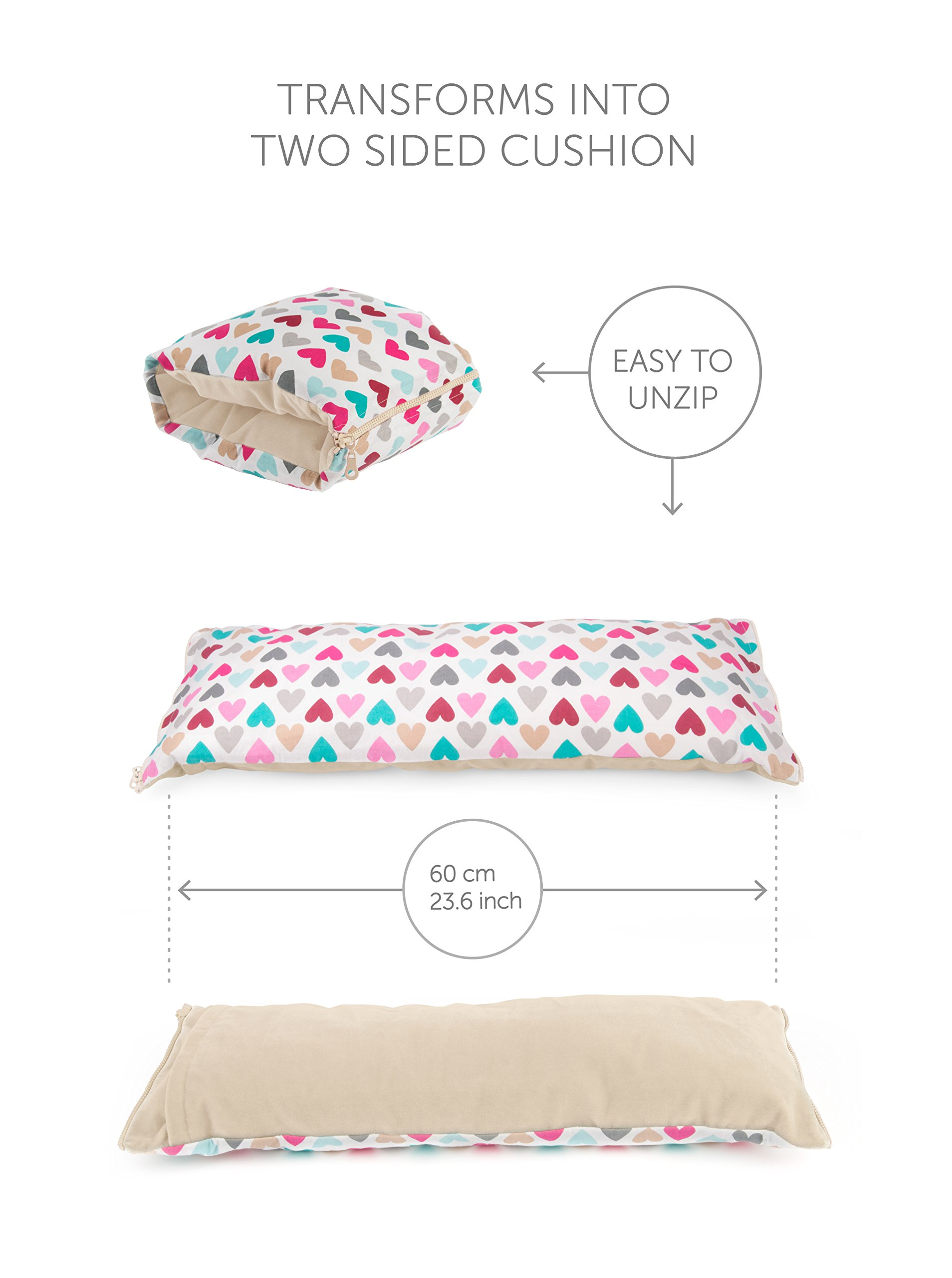 Benjamin Button - Arm Nursing, Breastfeeding Pillow and Positioner   Organic, Natural, Ergonomic Back Support Shape by Benjamin Button (Image #4)
