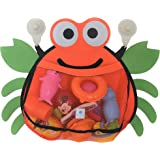 Crab Bath Net Organizer for Infant Toddler and Baby Toys – Organizer Storage and Holder with 2 Heavy Duty Limpet Lock Suction Cups - Bath Toy Net Holder for the Tub