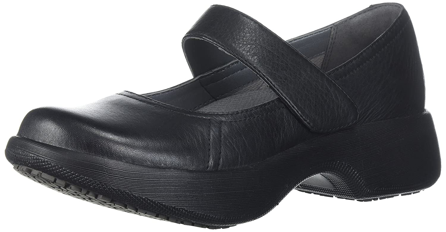 Dansko Women's Willa Mary Jane Flat B072XXDSYK 39 M EU (8.5-9 US)|Black Milled Nappa