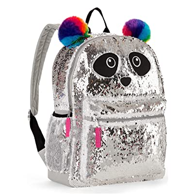 Panda Sequin Backpack for Girls - Panda Backpack with 2 Way Sequins | Kids' Backpacks