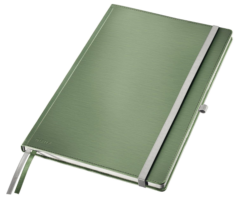 Style 80 fogli a quadretti Leitz Taccuino A4 con copertina rigida Carta avorio 100 gr//mq 44760004 Bianco artico 2 segnapagina