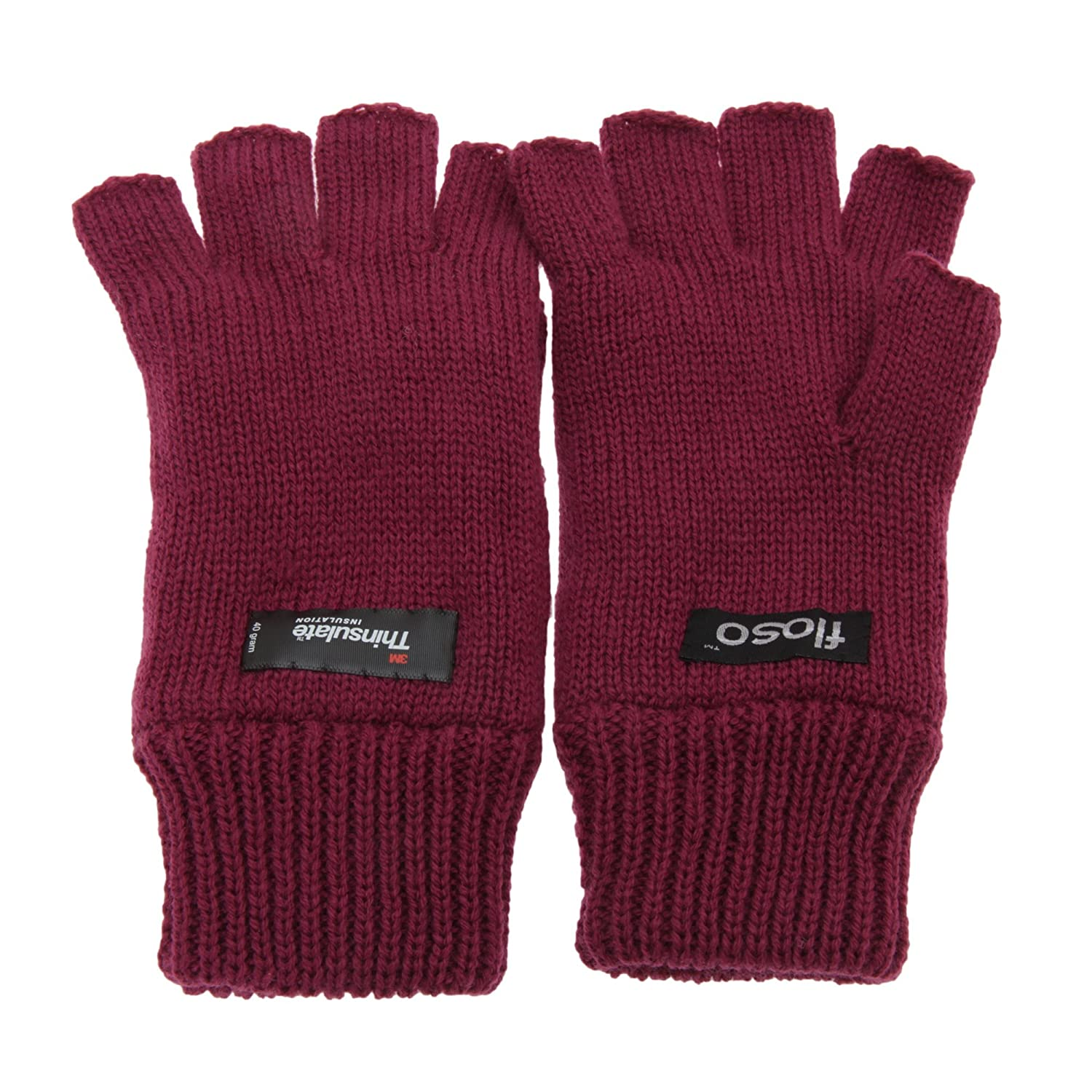 Fingerless gloves thinsulate - Floso Ladies Womens Thinsulate Thermal Fingerless Winter Gloves 3m 40g One Size Raspberry At Amazon Women S Clothing Store