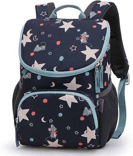 حقيبة ظهر للأطفال الصغار من مونتاتوب للأولاد والبنات، تصلح للعناية النهارية ورياض الأطفال وحضانات الأطفال في مرحلة ما قبل المدرسة مع حزام صدر قابل للإزالة