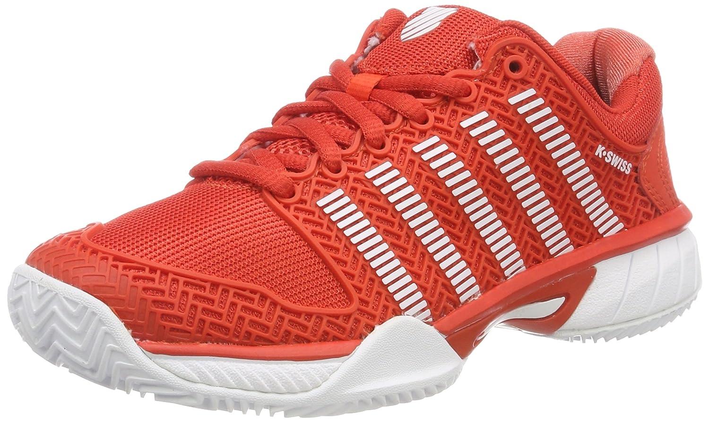 Rouge (Fiesta blanc 01) K-Swiss Perforhommece Hypercourt Express HB, Chaussures de Tennis Mixte Enfant 38 EU