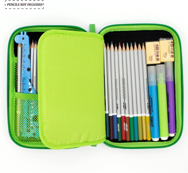 emoji Green MC COOL Trousse Grande capacit/é crayon Sacs Student stationnaire Trousse /à crayons de couleur support coque pour gar/çons filles Trousse Trousse de petits Gadgets