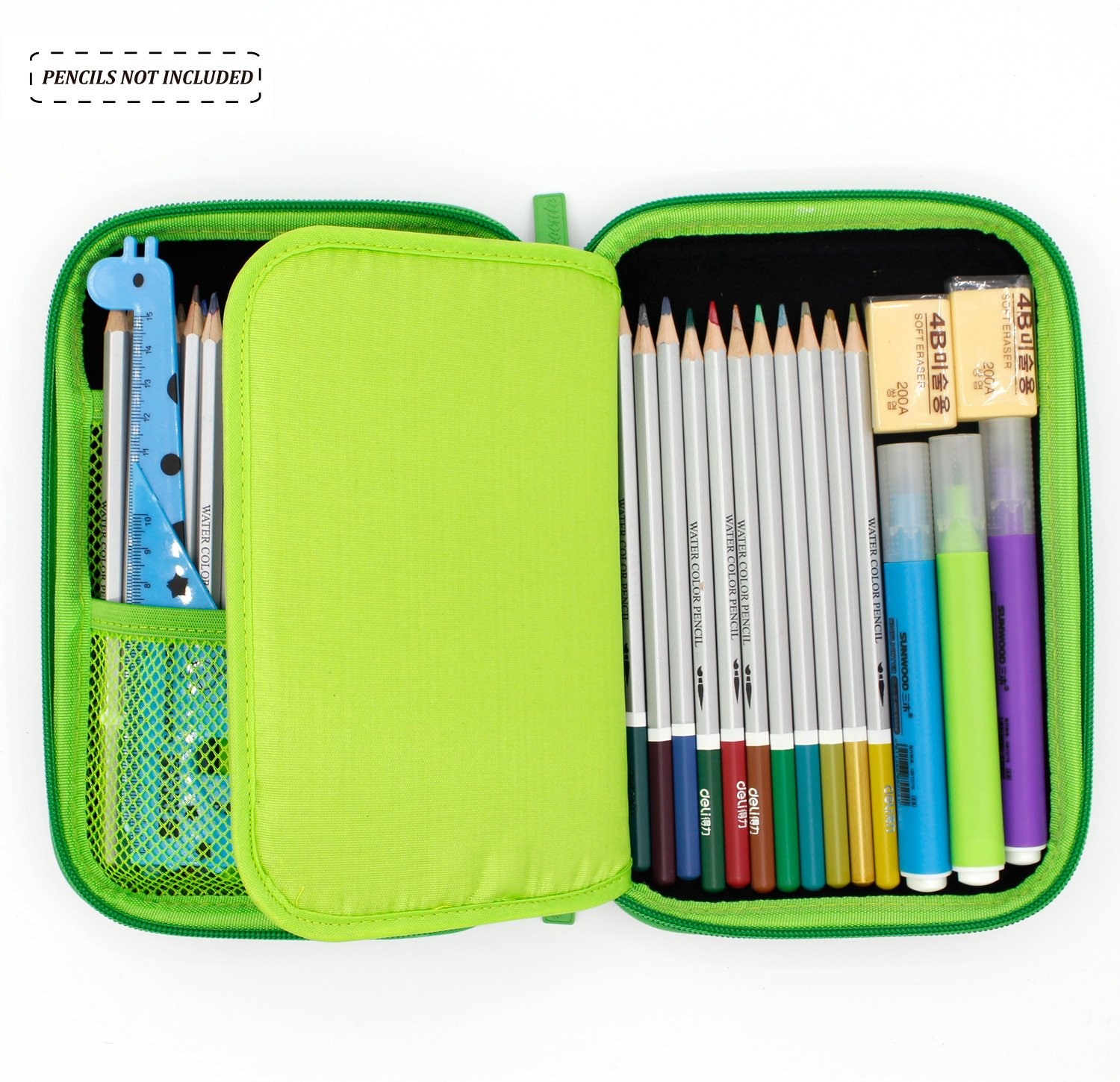 Amazon.com : Boys Cute School Supply Organizer Cool Pencil Case Box Holder  Bag With Zipper For Kids (Green) : Office Products