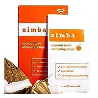 ZIMBA Teeth Whitening Strips - Coconut Essential Oil - Zimba Whitening Strips -...