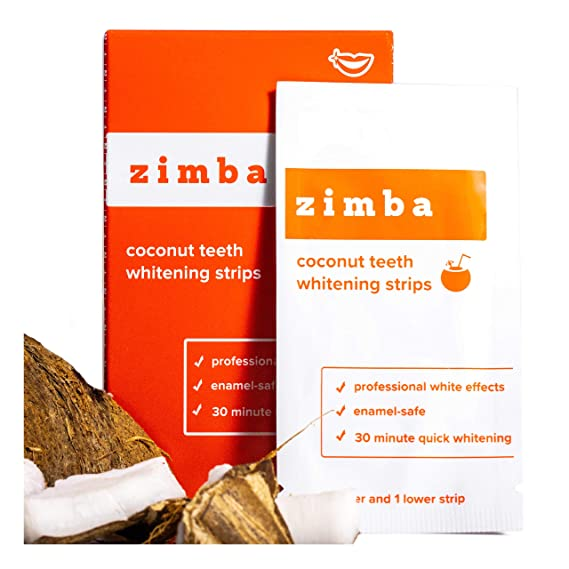 Amazon Com Zimba Teeth Whitening Strips Coconut Essential Oil