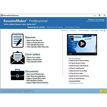 amazoncom resumemaker professional deluxe 20 software