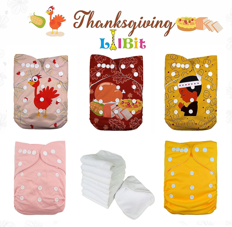Christmas 02 LilBit Christmas Prints Reusable Pocket Baby Cloth Diapers