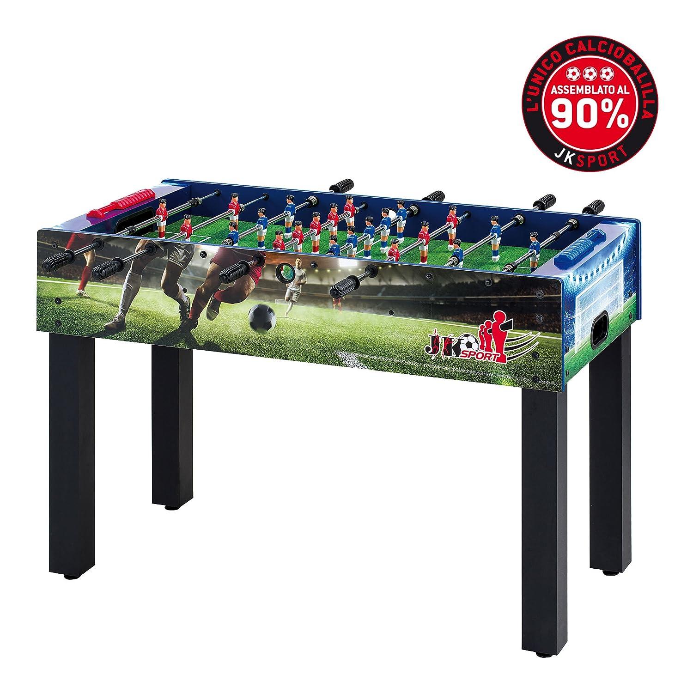 Calciobalilla Biliardino JK Sport JKS100 Serigrafato - Aste Rientranti - Interno JK Fitness