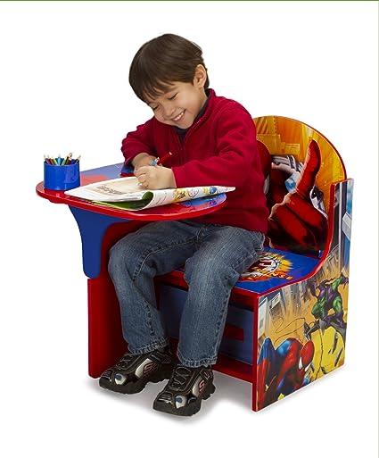 Amazoncom Delta Enterprise Spiderman Chair Desk with Storage Bin