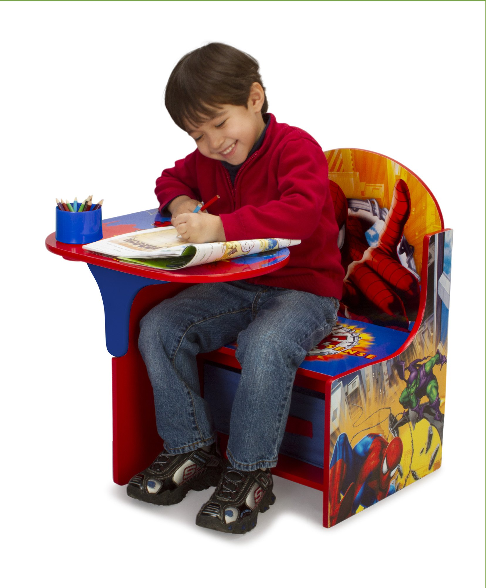 Delta Enterprise Spiderman Chair Desk with Storage Bin