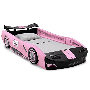 Delta Children Turbo Race Car Twin Bed  Pink. Amazon com  Delta Children Turbo Race Car Twin Bed  Pink  Baby