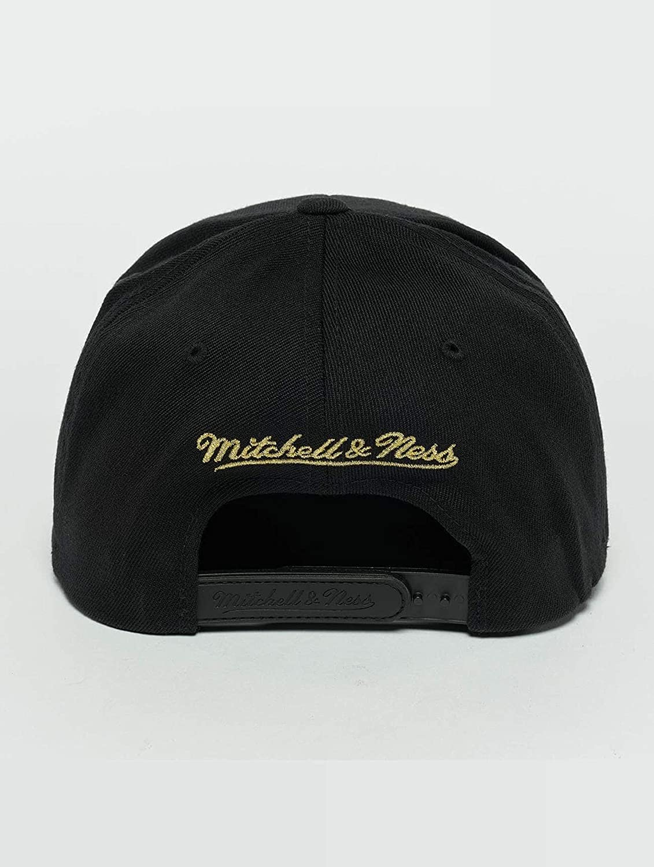 Mitchell /& Ness Uomo Cappellini//Snapback Cap The Black And Golden 110 Boston Celtics nero Adjustable
