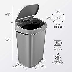 Ninestars DZT-80-35 Automatic Trash Can