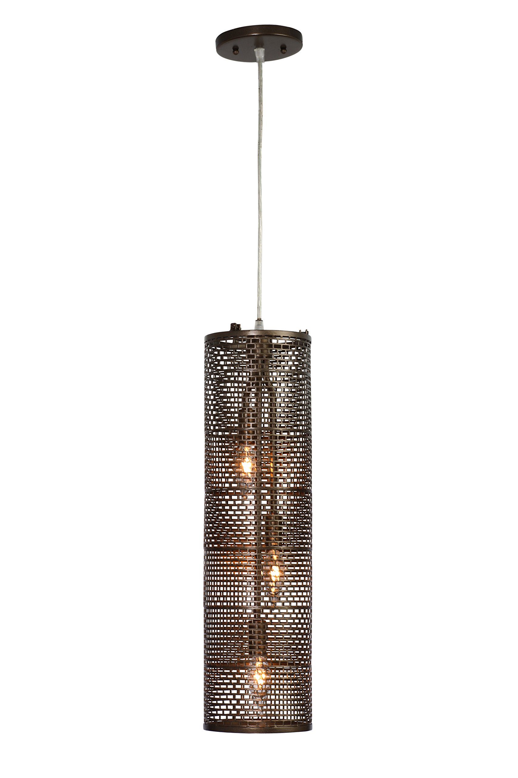 Lit-Mesh Test 3-Light Foyer Pendant - New Bronze Finish