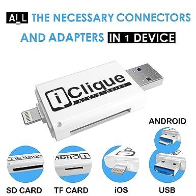 iClique iPhone 32 GB USB 3 0 Flash Drive for iPad, iOS PC