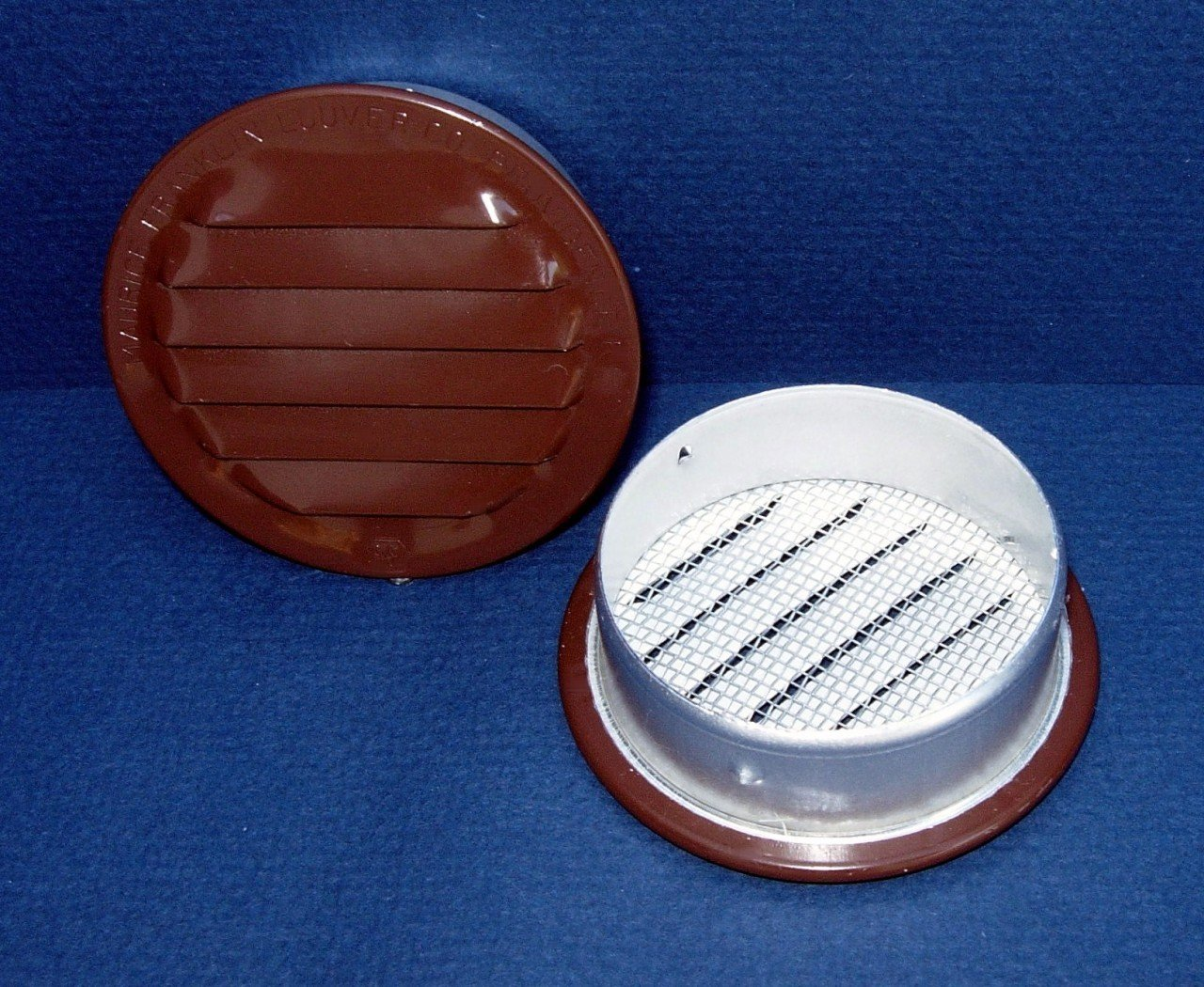 Maurice Franklin Louver-6'' Round Brown Aluminum Louver with Insect Screen (Priced Per Bag of 2). Item #6'' RLB-100
